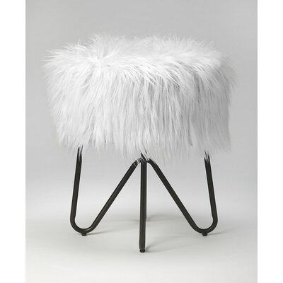 Everly Quinn Penrith Accent Stool Color: Black