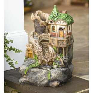 Solar Fairy House Fountain With Light