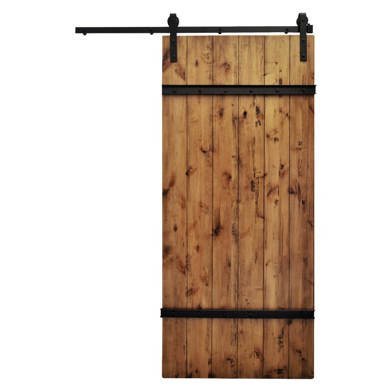 Drawbridge Solid Wood Room Dividers Knotty Alder Slab Interior Barn Door