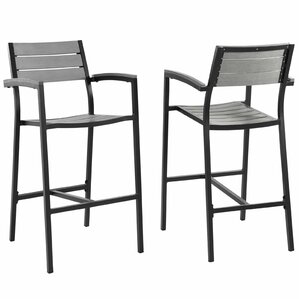 Maine Patio Bar Stool (Set of 2) by Modway