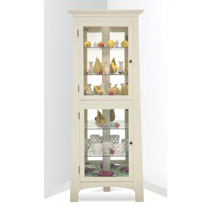 Westview Lighted Corner Curio Cabinet by Red Barrel Studio