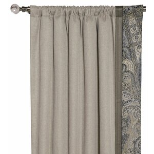 Reign Wicklow Heather Paisley Blackout Thermal Rod Pocket Single Curtain Panel