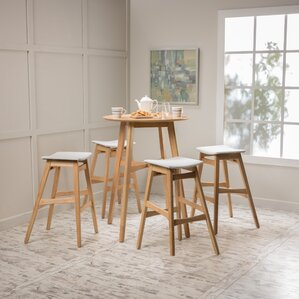 Fletcher 5 Piece Pub Table Set by Langley..