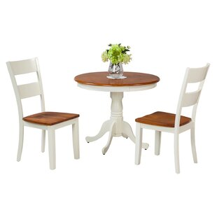Norcross 3 Piece Solid Wood Dining Set