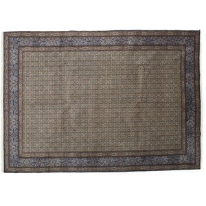 One-of-a-Kind Mood Hand-Knotted Blue Area Rug