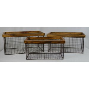 Net Metal 3 Piece Basket Set