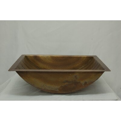 Hammered Undermount Bathroom Sink premier copper products hexagon specialty undermount bathroom sink