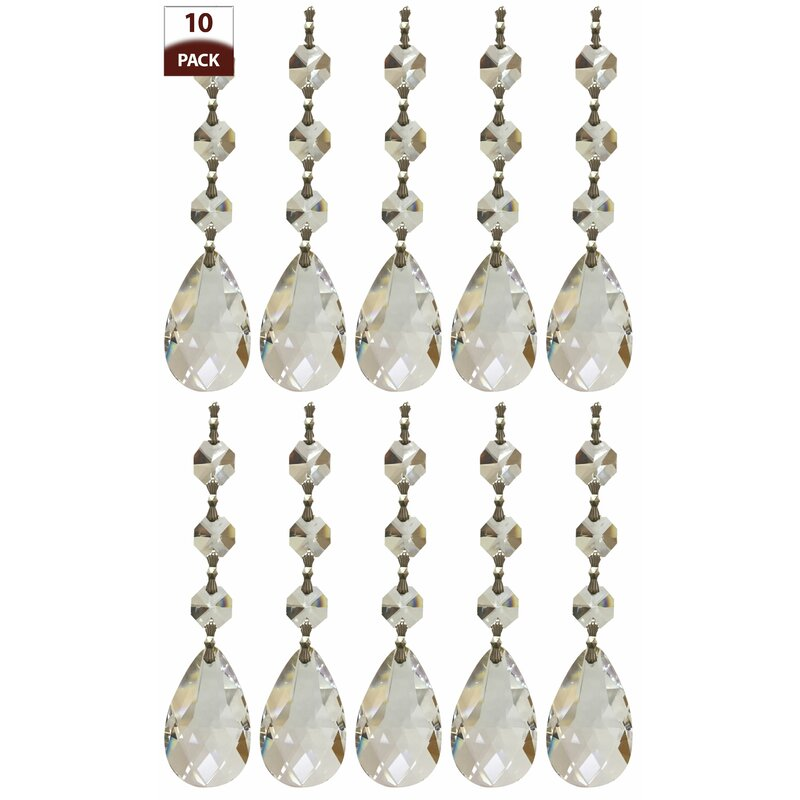 RoyalDesigns Chandelier Replacement Crystal Prism Icicle UDrop - Chandelier spare crystals