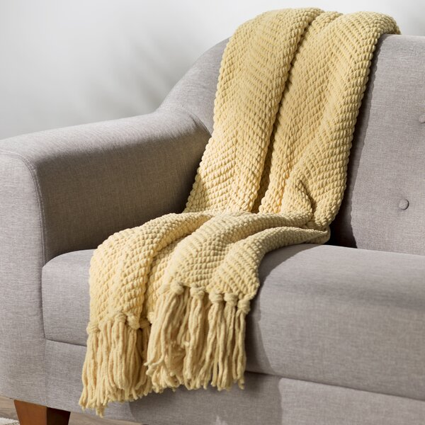 Three Posts Nader Tweed Knitted Throw Blanket Amp Reviews