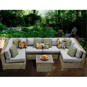 Cape Cod 7 Piece Sectional Seating Group with Cushion