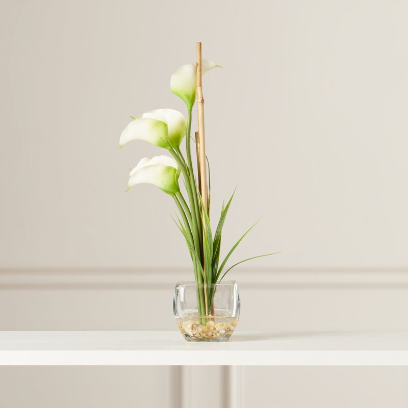 Silk Calla Lily With Vase Reviews Birch Lane