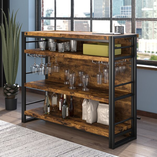 Williston Forge Felicita Bar With Wine Storage Amp Reviews
