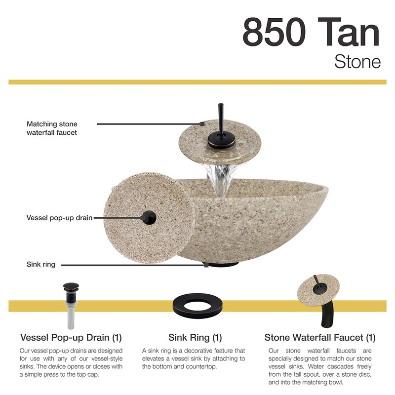 MRDirect Stone Circular Vessel Bathroom Sink with Faucet & Reviews ...