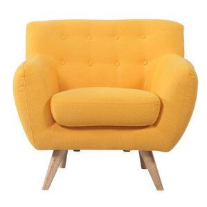 Exceptional Mid Century Modern Tufted Armchair