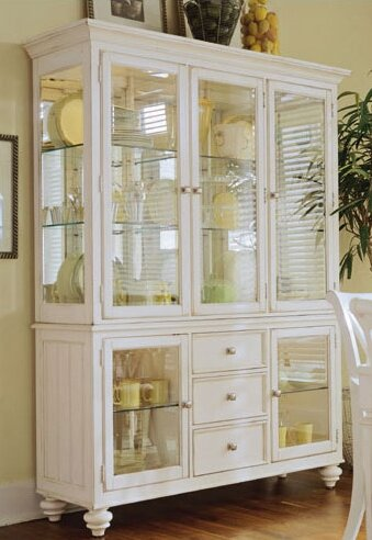 to china solid mirrored vitrines room hutch order dining made back jca curios mahogany hutches shop tone cabinet two w display cabinets white
