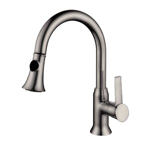 Yosemite Home Decor One Handle Single Hole Kitchen Faucet with Pull-Out