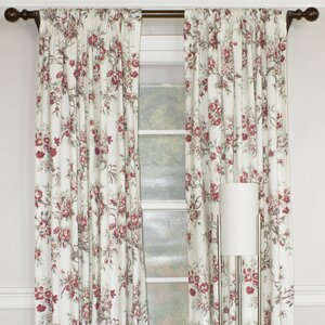 Chittenden Floral Room Darkening Single Curtain Panel