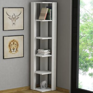 Tall Narrow Corner Bookcase