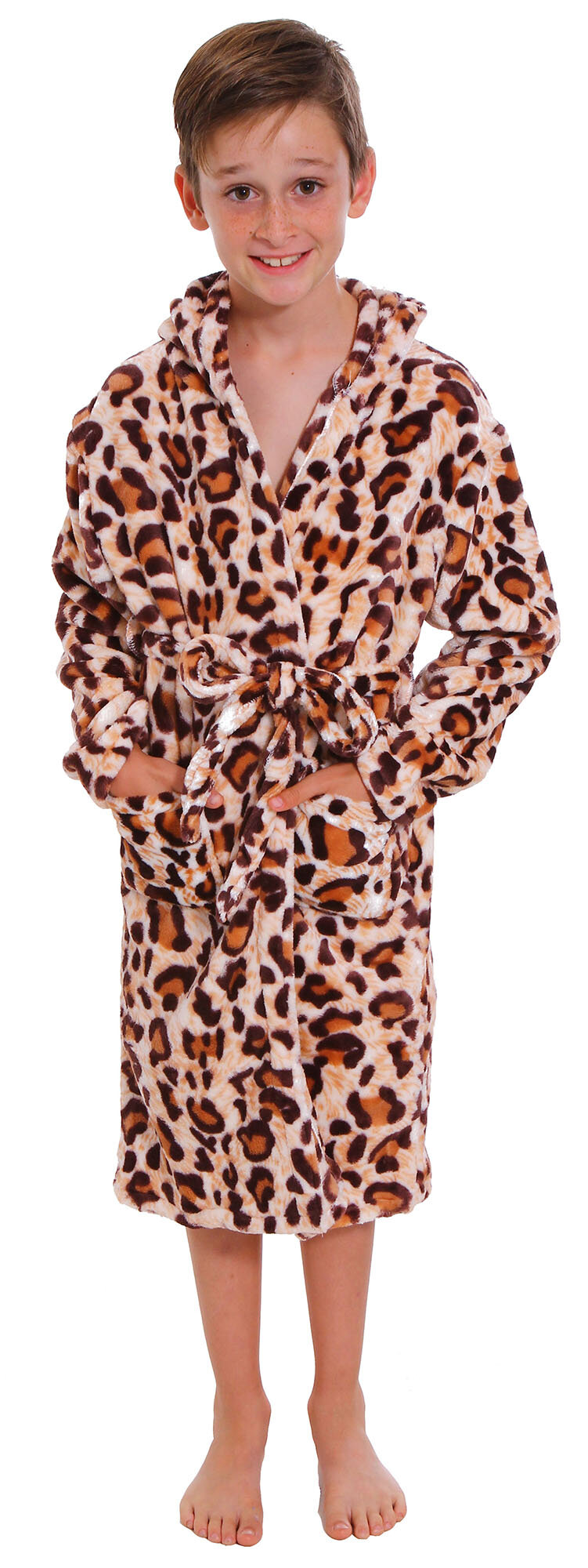 8be426485b Zoomie Kids Geurie Children s Animal Print Terry Cloth Bathrobe ...