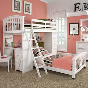 Javin L-Shaped Bunk Bed with Drawers b..