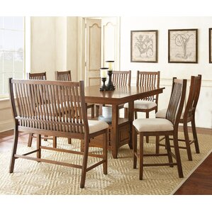 Quaker 8 Piece Dining Set by Alcott Hill