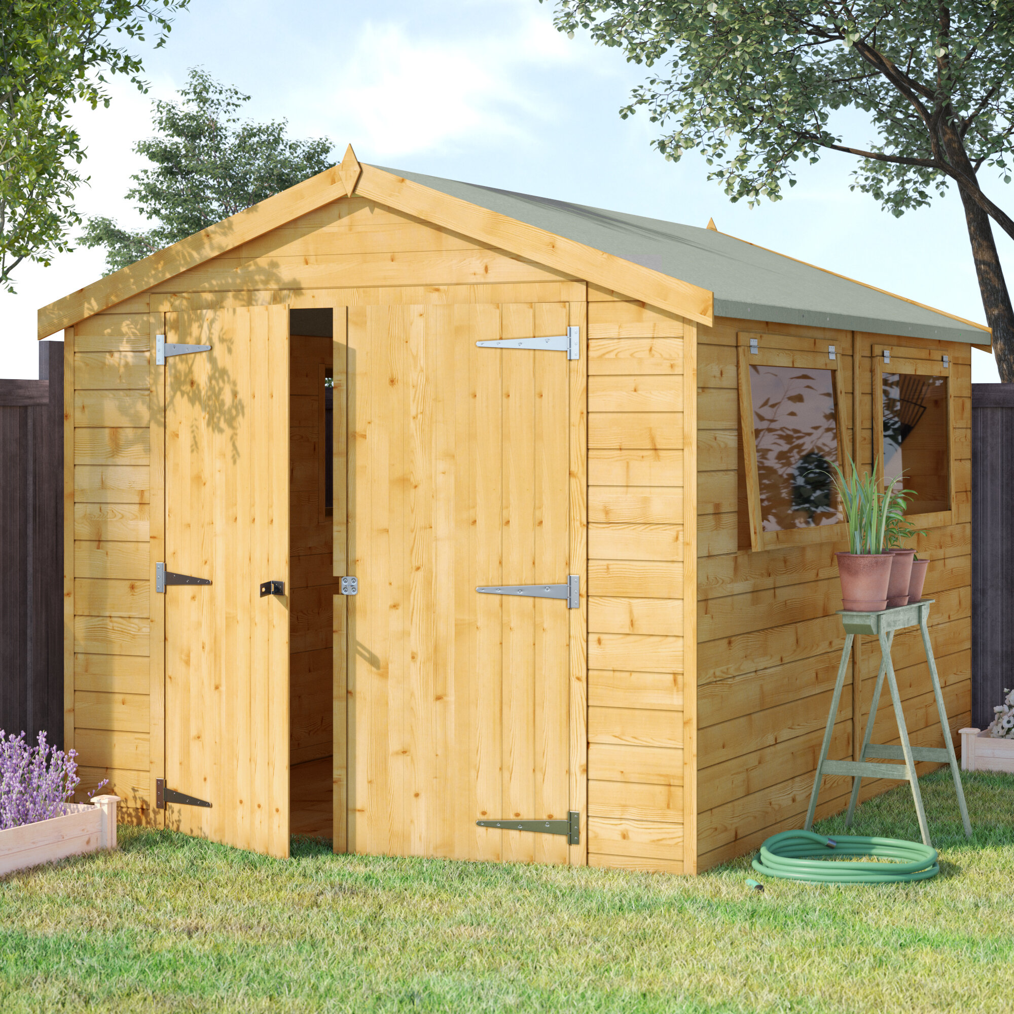 East Ham 8 Ft W X 10 Ft D Tongue And Groove Apex Wooden Shed