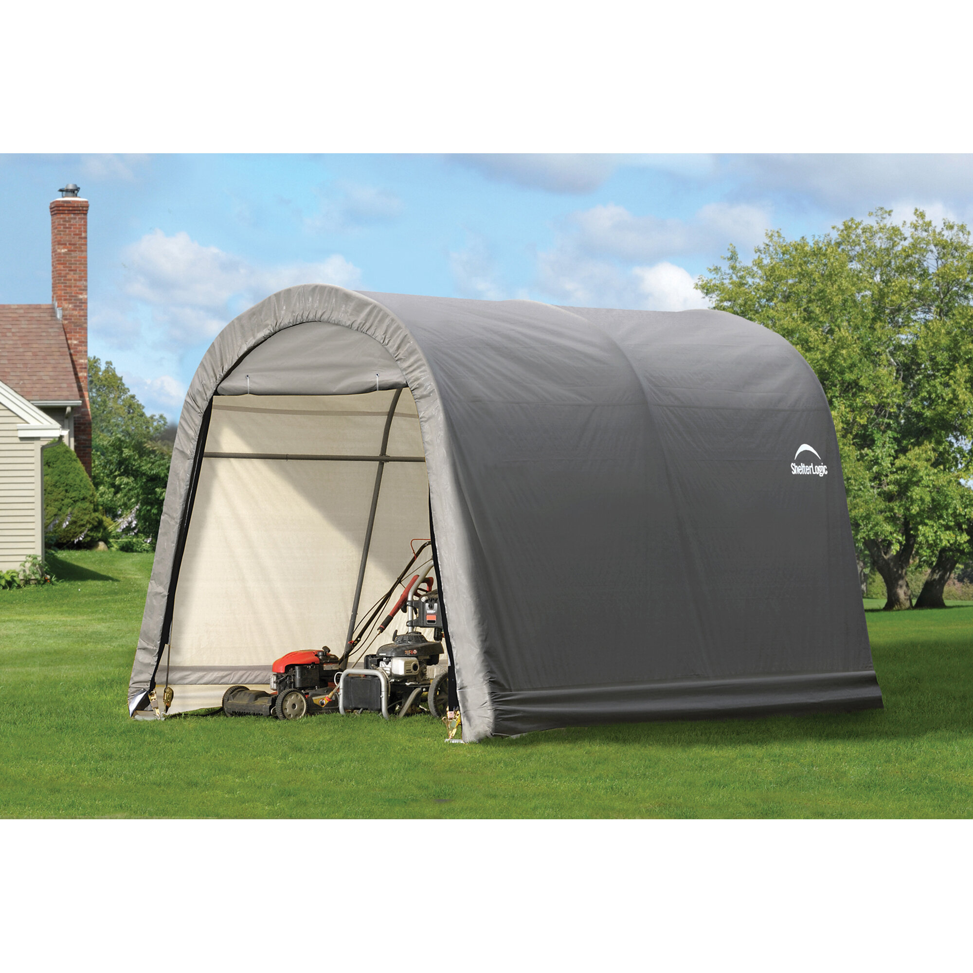 a shelterlogic shelters box in category reviews roundtop kit car garage portable life x