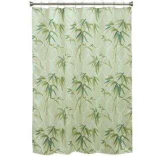 Zen Bamboo Polyester Shower Curtain