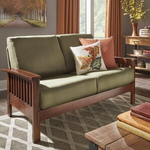 Winnifred Mission Loveseat with Cushions by ..