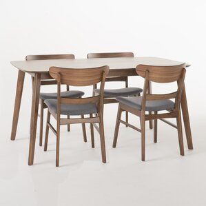 Yolanda 5 Piece Rubberwood Dining Set by Langley..