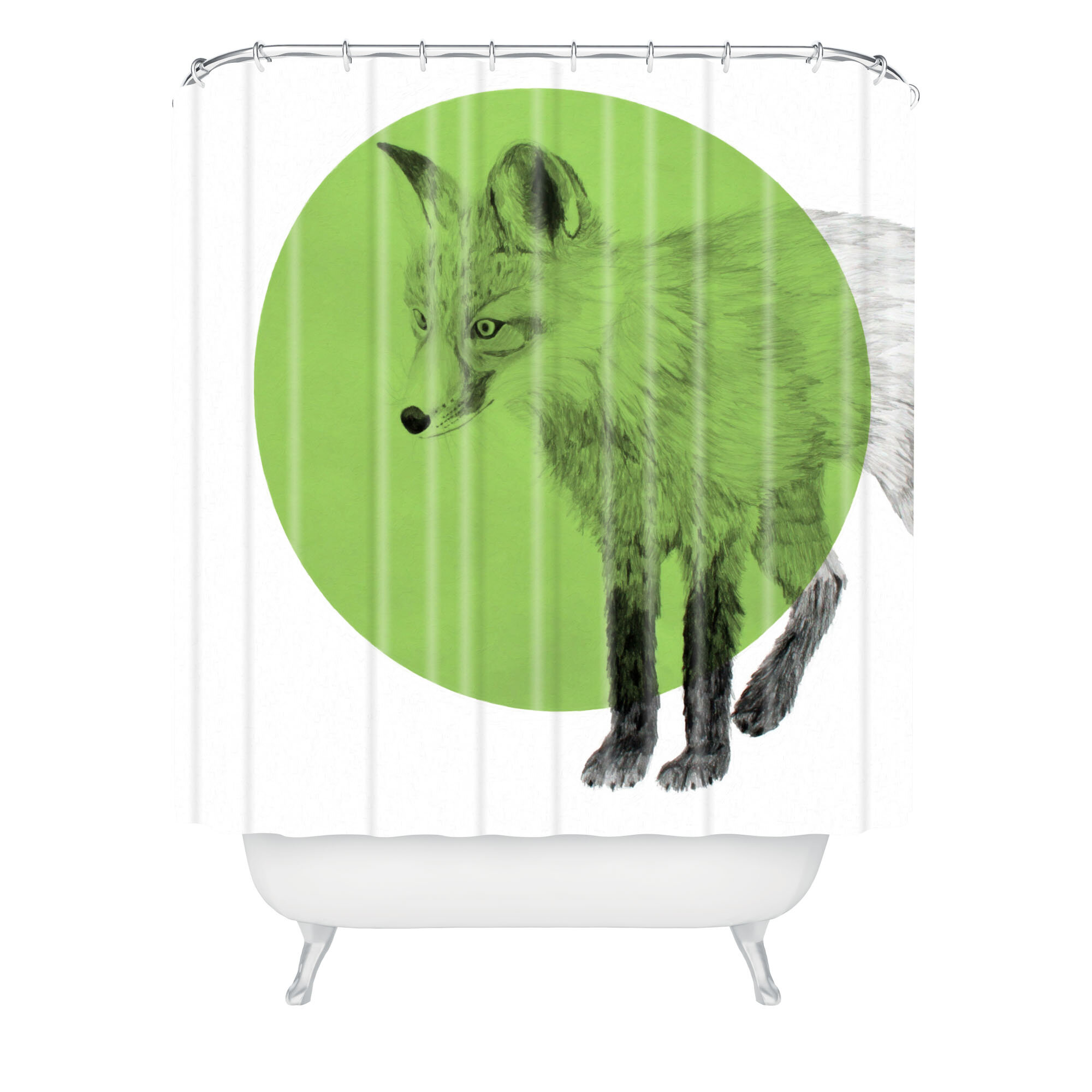 East Urban Home Morgan Kendall Fox Shower Curtain