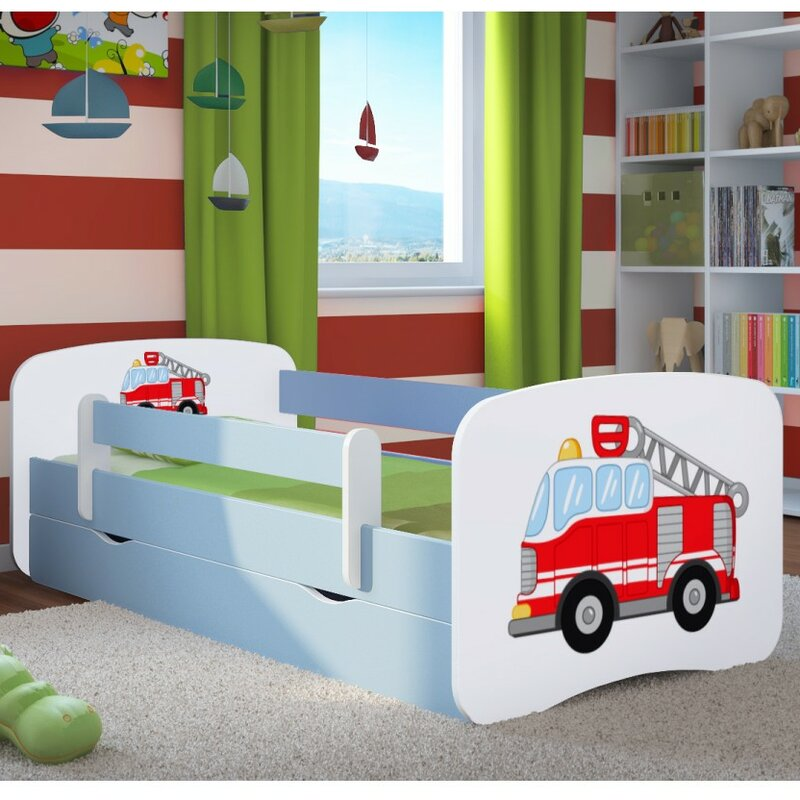 kocot kids funktionsbett fire engine mit matratze und schublade bewertungen. Black Bedroom Furniture Sets. Home Design Ideas