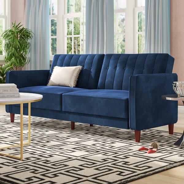 Velvet Royal Blue Sofa Wayfair