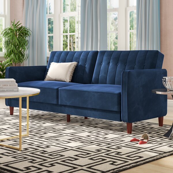 Willa Arlo Interiors Nia Pin Tufted Convertible Sofa