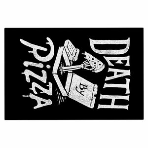 'Death by Pizza' Food Decorative Doormat