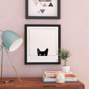 9725c3d85 'Curiosity Kitty Kitten Peeking' Framed Photographic Print on Wood