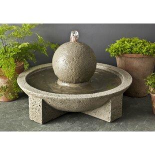 Charming Garden Terrace Concrete Sphere Fountain