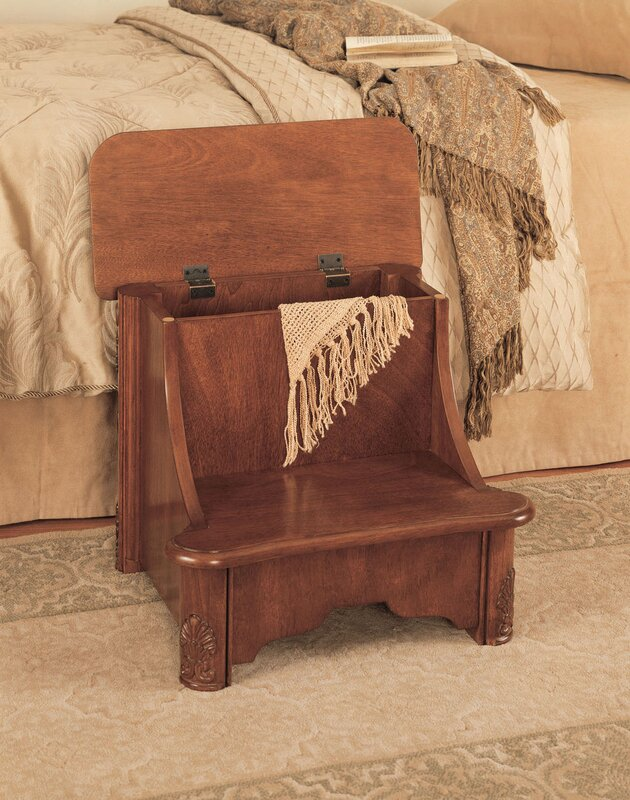 bedroom step stool powell woodbury mahogany 2 step manufactured wood bed step 10681