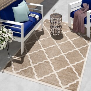 maritza trellis wheatbeige indooroutdoor area rug - Outdoor Patio Rugs