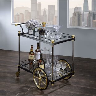 Denis Metal Framed Bar Cart