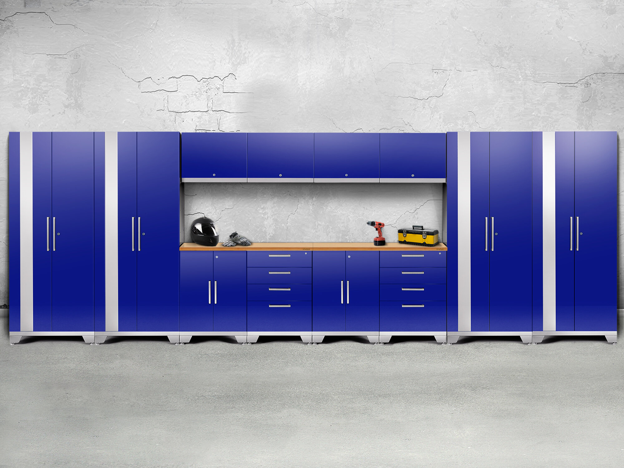 NewAge Products Performance 2.0 Series 14 Piece Storage Cabinet Set ...
