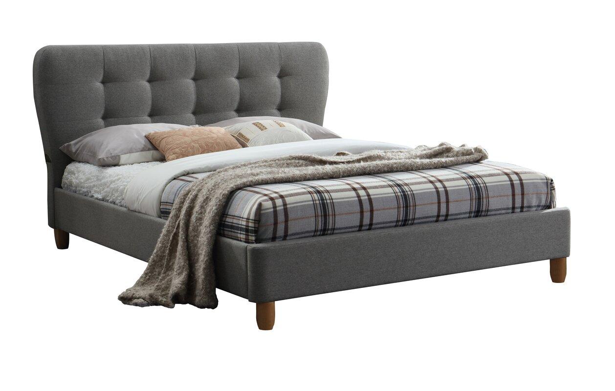 Langley Street Aghavary Upholstered Bed Frame & Reviews