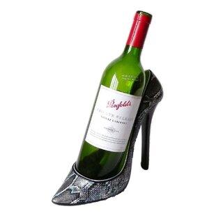 Gracia Snakeskin Stiletto Shoe 1 Bottle Tabletop Wine Rack