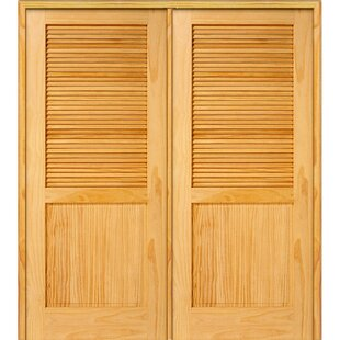 Superior Half Double Solid Manufactured Wood Louvered MDF Prehung Interior Door