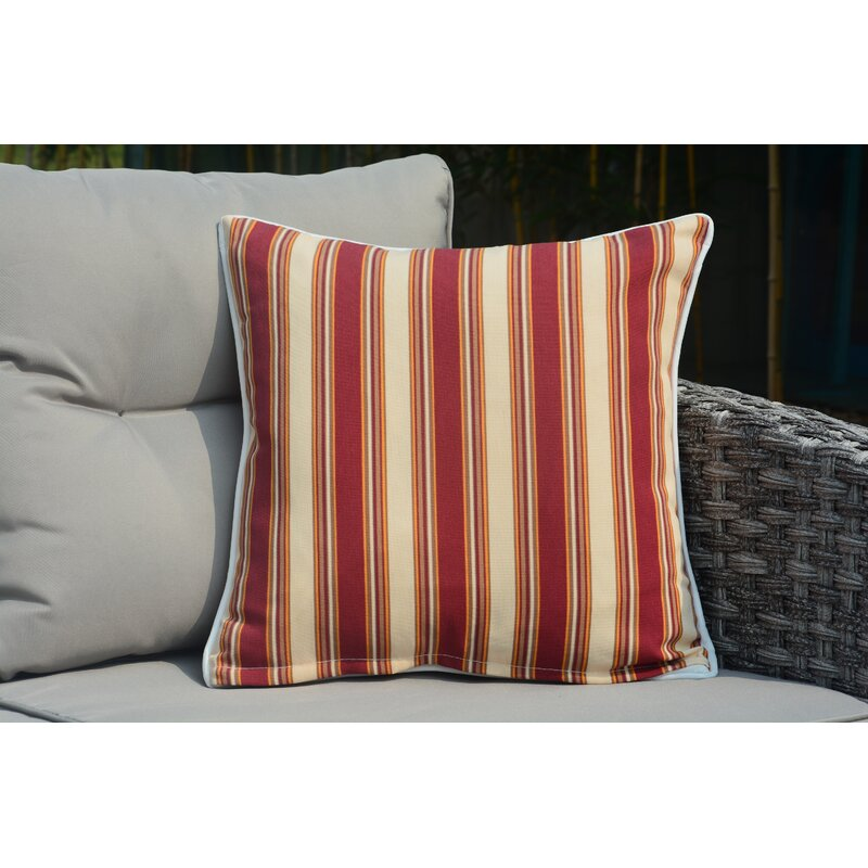 Red Barrel Studio Beckett Square Striped Outdoor Throw Pillow Wayfair