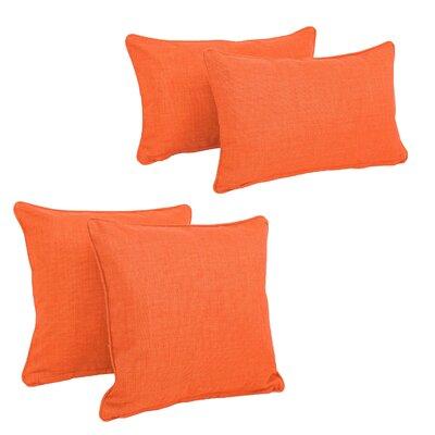 Three Posts Dunwich Indoor/Outdoor Throw Pillow Color: Tangerine Dream