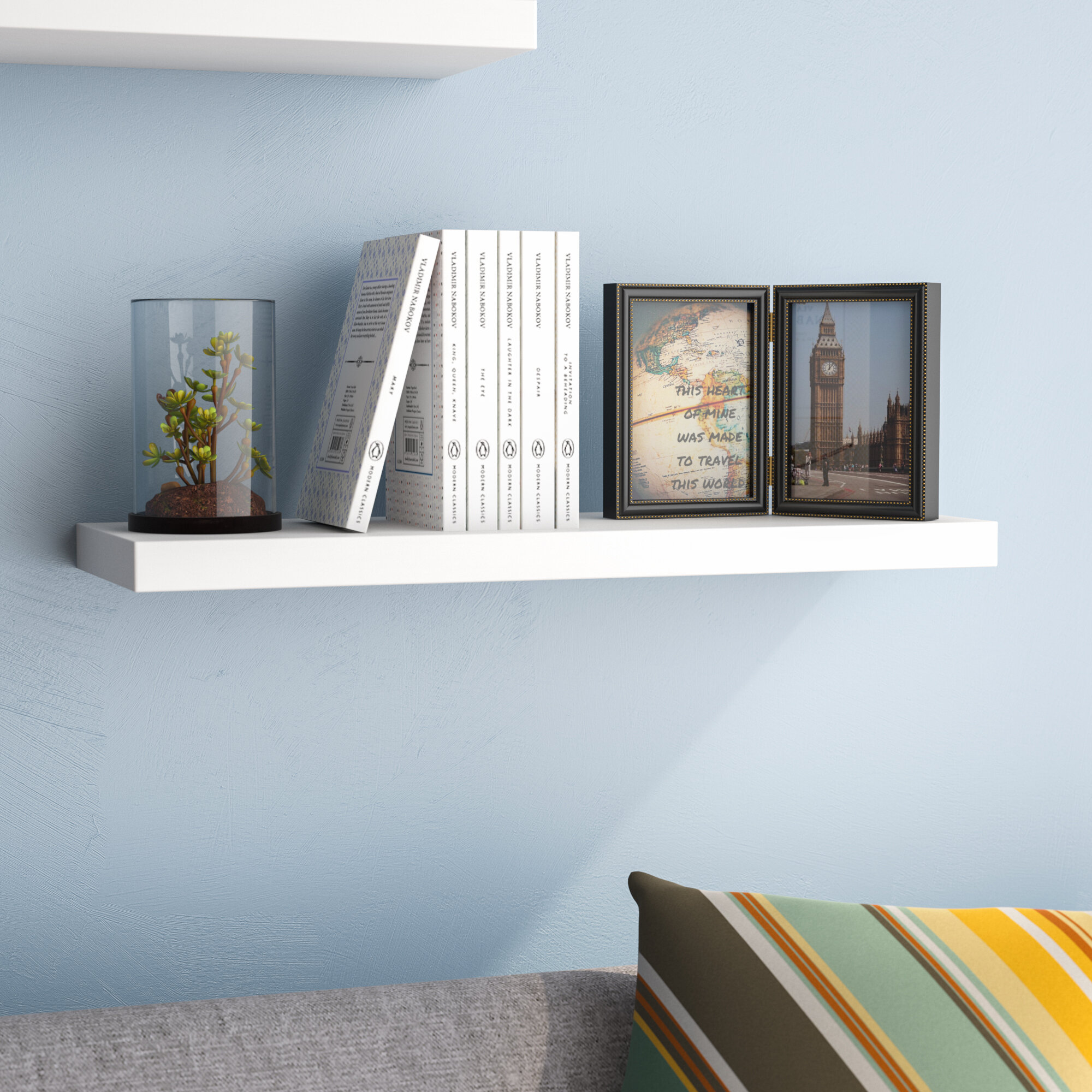 Ebern Designs Board Line Floating Wall Shelf U0026 Reviews | Wayfair