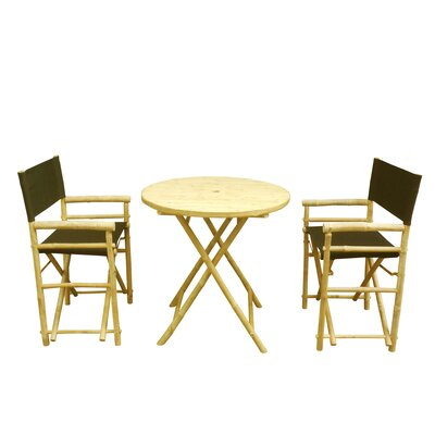Buyers Choice Phat Tommy 3 Piece Bistro Set  Color: Black