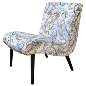 Desantis Paisley Slipper Chair by Mercury Row
