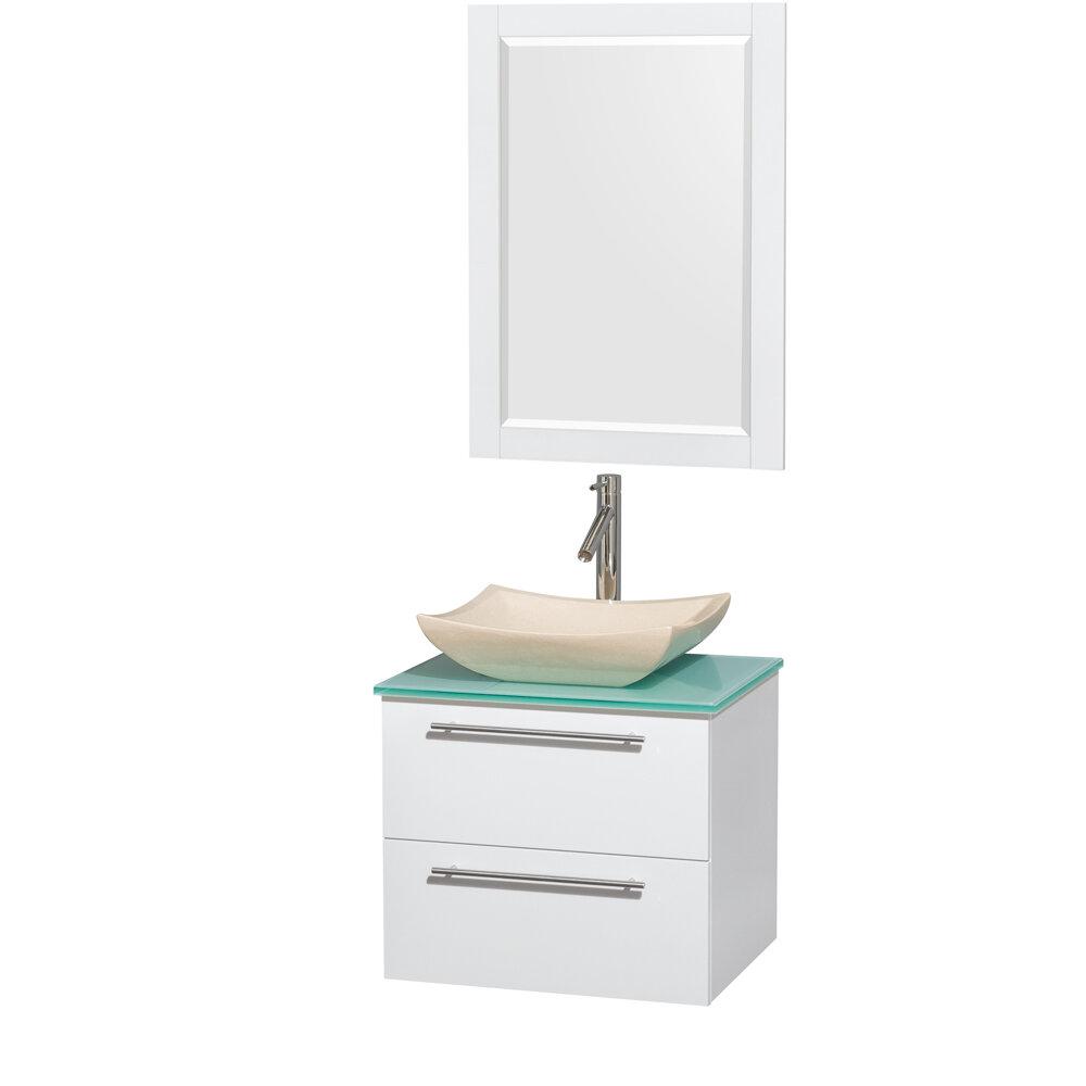 single white bathroom vanities. Wyndham Collection Amare 24\ Single White Bathroom Vanities